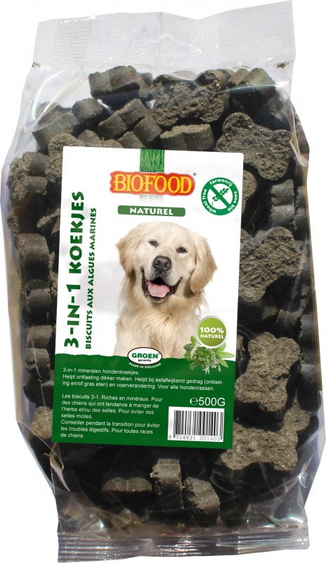 BIOFOOD 3 in 1 Biscuits with Seaweed for Dogs