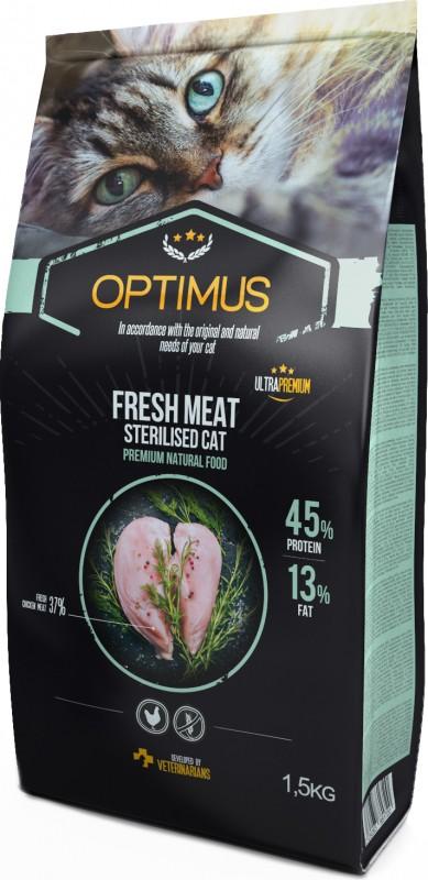 OPTIMUS Fresh Meat Adult cat sterilized with fresh chicken grain free