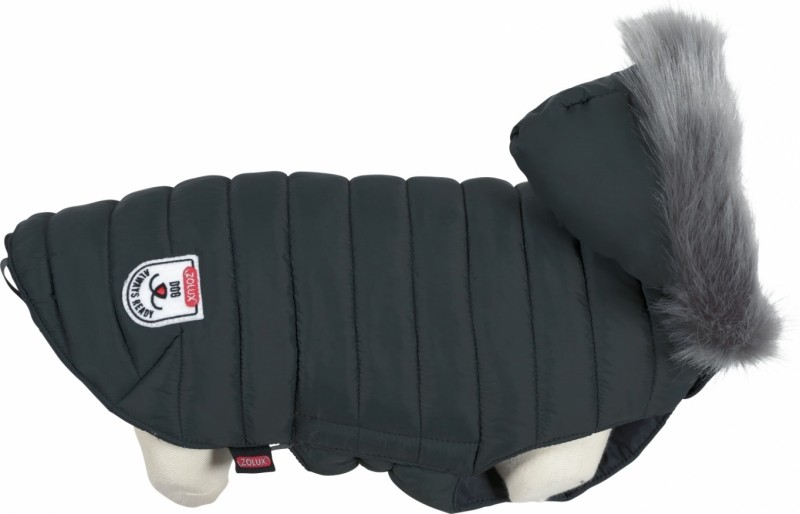 Urban puffer jacket for dog gray