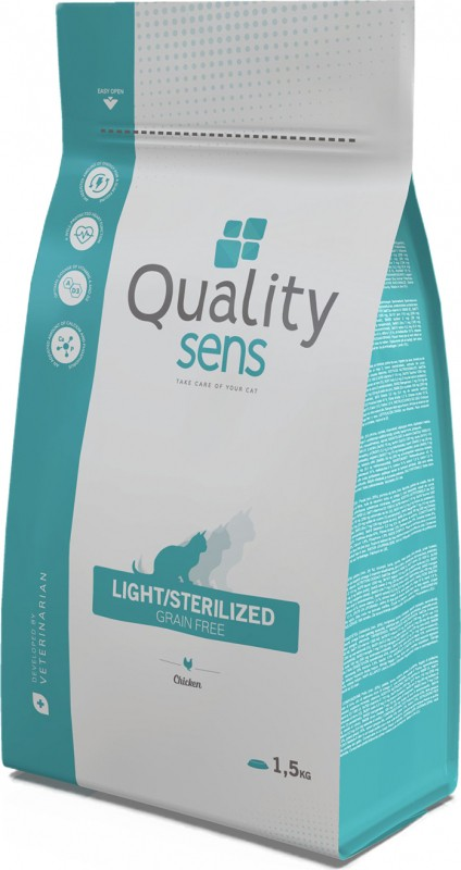 QUALITY SENS Light / Sterilized Grain Free, grain-free for sterilized or overweight cats