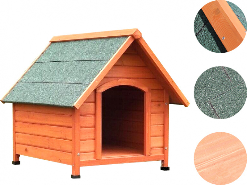 Akira ZOLIA wooden dog house with pointed roof