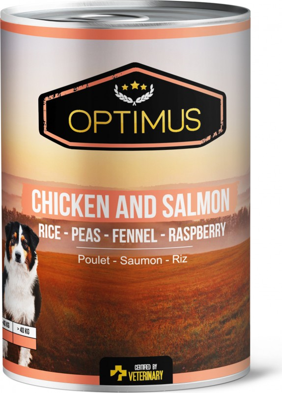 Optimus Chicken and Salmon Pate for Dogs