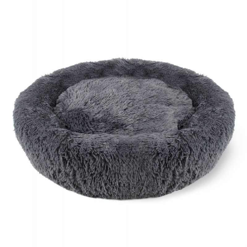 Charcoal gray soothing cushion for cats and dogs Zolia Bob
