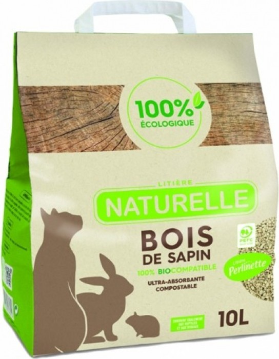 Perlinette Fir wood litter for cats, rabbits, rodents and guinea pigs
