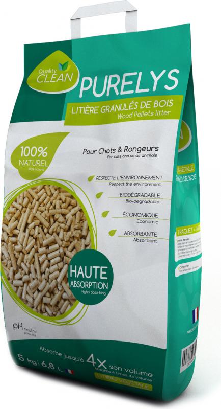 PURELYS wood pellet litter