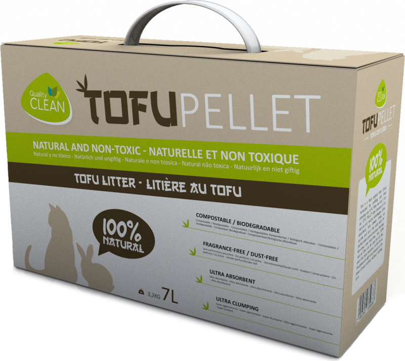 TofuPellets Quality Clean clumping vegetable litter - 7L
