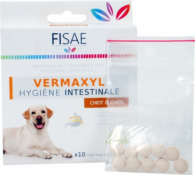 Puppy / dog intestinal hygiene FISAE VERMAXYL - Eco-Cert label