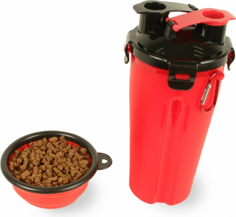 Zolia Sportydog 2 in 1 water bottle for dogs: water and dry food