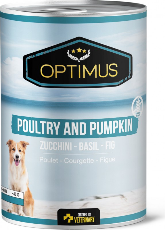 Optimus Poultry and Pumpkin Pate, grain free for dogs