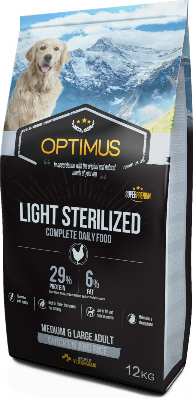 Optimus Adult Light / Sterilized for Dogs
